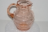 "**MBA #S28-096   ""Pink Depression Glass Water Pitcher"""