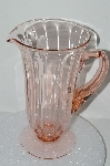 "**MBA #S28-119  ""Very Fancy Pink Depression Glass Pitcher"""
