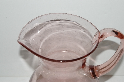 "**MBA #S28-115   ""Pink Glass Water Pitcher"""