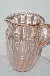 "**MBA #S28-128   ""Vintage Pink Depression Glass Pitcher"""