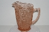 "**MBA #S28-124   ""Very Fancy Pink Depression Glass Colored Water Pitcher"""