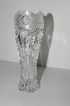 "**MBA #S28-244   ""Older Crystal Rose Bud Vase"""