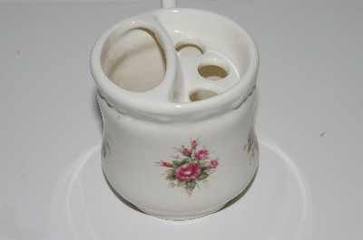 "+MBA #S28-192   ""Older Athena Rose Ceramic Cup & Tooth Brush Holder"""