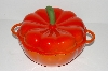 "**MBA #S28-142   ""Technique Eameled Cast Iron 3 Qt Pumpkin Pot"""