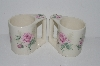 "**MBA #S31-109     ""Set Of 5  White Glazed Pink Claremont Rose Coffee Mugs"""