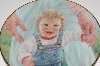 "+MBA #S29-325   ""1991 Abbie Williams Babys First Steps Collectors Plate"""