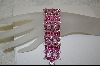 **Charles Winston's Created Pink Sapphire Bracelet