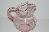 """SOLD""  MBA #S31-130   ""Vintage Pink Depression Glass Water Pitcher"""