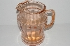 "**MBA #S31-139   ""Vintage Pink Depression Glass Water Pitcher"""