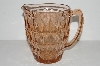"**MBA #S31-152   ""Pink Depression Glass Diamond Pattern Water Pitcher"""