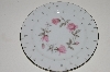 "**MBA #S18-101  Set Of 6     ""Charmaine By Sango Pink Roses With Platinum Trim Salad Plate"""