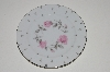 "**MBA #S18-104  Set Of 7   ""Charmaine By Sango Pink Roses & Platinum Trim Bread & Butter Plate"""