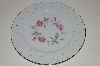 "**MBA #S18-115  Set Of 7      ""Charmaine By Sango Pink Roses & Platinum Trim Dinner Plate"""
