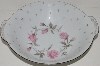 "**MBA #S18-124     ""Charmaine By Sango Pink Roses & Platinum Trime Round Vegetable Serving Bowl"""