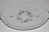 "**MBA #S18-137    ""Charmaine By Sango Pink Roses & Platinum Trim Large Oval Serving Platter"""