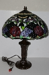"+MBA #S19-037   ""2003 Davita Rose Table Lamp With Black Marble Inlay"""