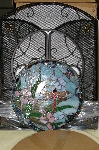 "+MBA #S19-070    ""2003 Tiffany Style Dragonfly Fireplace Screen"""