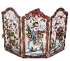 """SOLD""  MBA #S18-H81284  ""Holiday Handpainted Decorative Tin Snowman Fireplace Screen"""