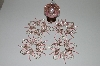 "MBA #B3-122  ""Set Of 5 Hand Beaded Pink & Silver Ornament Covers"""