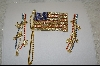 Large American Flag Pin W/ Matching Pierced Earrings