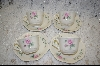 **MBA #6845  Set Of 8 Bavarian Style Tea Cups & Saucers