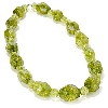 "**MBA #B6-219  ""14K White Gold Green Quartz Crystal Necklace"""