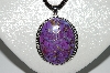 "**MBA #B6-211  ""Sterling Mohave Purple Turquoise Pendant"""
