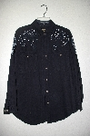 "MBAHB #19-028  ""Ignite Basics 1980's One Of A Kind Hand Beaded Shirt"""