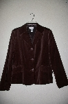 "**MBAHB #19-220  ""Chadwicks Brown Velvet Button Front Blazer"""