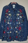 "**MBAHB #19-108  ""Quacker Factory Floral Embroidered Denim Jacket"""