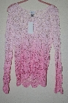 "MBAHB #19-123  ""Together Multi Shade Pink Crochet Pullover Top"""