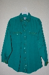 "MBAHB #19-075  ""Full Steam Green Fancy Beaded One Of A Kind Shirt"""