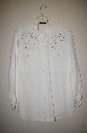 "MBAHB #25-069  ""Manisha White One Of A Kind Hand Beaded Shirt"""