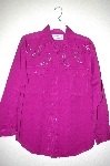 "MBAHB #25-085  ""Full Steam Purple One Of a Kind Hand Beaded Top"""