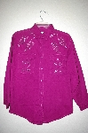 "MBAHB #25-090  ""Full Steam Purple One Of a Kind Hand Beaded & Gemstone  Top"""