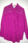 "MBAHB #25-098  ""Full Steam Purple One Of a Kind Hand Beaded Shirt"""