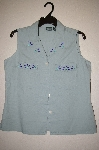 "MBAHB #25-104  ""Hunt Club Green One Of A Kind Hand Beaded Shirt"""
