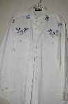 "MBAHB #13-034  ""Manisha 1980's White One Of A Kind Hand Beaded Shirt"""