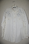 "MBAHB #13-027  ""Manisha 1980's White One Of A Kind Hand Beaded Shirt"""