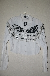 "MBAHB #13-012  ""Chaparral Ridge 1993 White Fancy One Of A Kind Hand Beaded Short Jacket"""