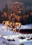 "**MBA #FL9-151  ""Knight Of The Grizzly"" By Artist Check Ren"