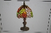 "+MBAHB #19-477  ""2003 Tiffany Style Grapes Stained Glass Accent Lamp"""