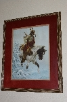 "+MBA #FL7-153    ""1985 Winter Warrior Lithograph By Artist Chuck Dehaan"