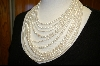 14Kt 10 Strand White Fresh Water Pearl Necklace
