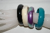 "MBA #88-008  ""Set Of 4 Acrylic Bangle Bracelets"""
