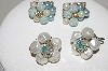 "MBA #88-081  ""Set Of 2 Pairs Of Vintage Clip On Bead Earrings"""