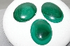 "MBA #88-080  ""Set Of 3 Large Oval Malacite Cabachons"""