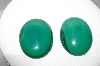 "MBA #88-083  ""Set Of 2 Large Oval Malacite Cabachons"""