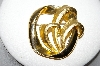 "+MBA #88-378  ""Older Fancy Gold Plated Pin With Two Finishes"""