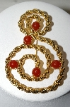 "MBA #88-182  ""Large Gold Finish Cabachon Stone Avon Brooch"""